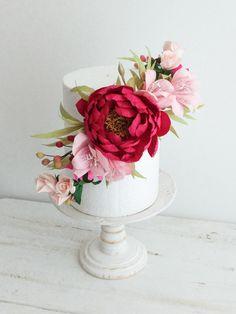 Arranjo floral para Bolo
