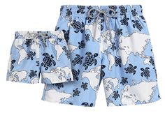 Nothing melts our hearts more than father-son matching swim trunks—especially when they're Vilebrequin.