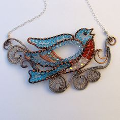 Bluebird in the Clouds Necklace by Ruth Jensen, via Flickr