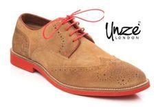 @Unze London London London #Men #Suede #Leather #Casual Lace Up Desert Brogue #Shoes for buy it click the Image.