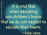 So true... teach your kids compassion, honesty, grace.. no one else will.