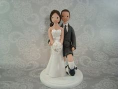 Customized Soccer Theme Wedding Cake Topper by mudcards on Etsy, $140.00