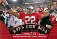 2012 Upper Deck Alabama #97 2009 National Champs RTR/ Mark Ingram Jan. 7, 2010 Bama beats Texas 37 - 21 to go undefeated and win the 2009 National Championship #Alabama #RollTide #BuiltByBama #Bama #BamaNation #CrimsonTide #RTR #Tide #RammerJammer #NationalChampions #Heisman