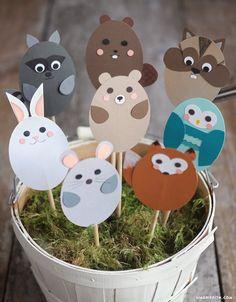 Woodland Animal Stick Puppets