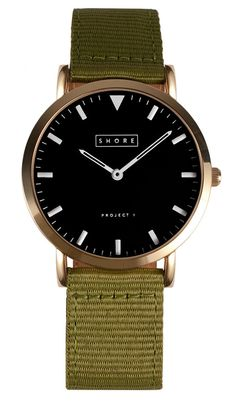 Shore Project St Ives wristwatch -I'd opt for the brown leather band however...