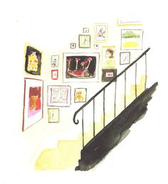 virginia johnson Virginia Johnson, Deck The Halls, Painting Patterns, Doodle Art, Illustrators, Gallery Wall, Colours, Drawing Board, Watercolor