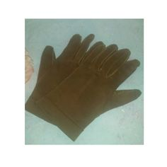 Vintage, Wear Right, Brown Flex Suede Ladies Gloves,  Made in Western Germany,  Brown Suede Womens Gloves,  Size 7 by JunkYardBlonde on Etsy