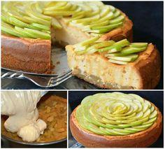 Caramel Apple Cheesecake - a tasty work of art.