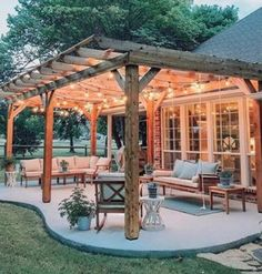 The pergola you choose will probably set the tone for your outdoor living space, so you will want to choose a pergola that matches your personal style as closely as possible. The style and design of your PerGola are based on personal Backyard Patio Designs, Backyard Landscaping, Landscaping Ideas, Backyard Pergola, Backyard Porch Ideas, Patio Ideas Country, Backyard Covered Patios, Backyard Projects, Patio Oasis Ideas