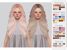 TS4 Child Hair Retexture 04 - LeahLillith's Honey• 90 Colors • Retexture • Thumbnail • Standalone The beautiful Mesh is by LeahLillith, But was converted by me, you need both My Retexture and The Mesh...