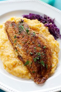 Fish & Sweet Potato Grits 5 via Angela Roberts