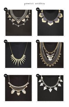 Falling For Express, Again: Geometric Necklaces