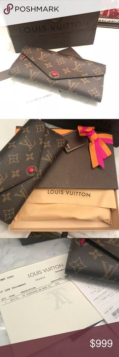💯 Louis Vuitton MM Mono Wallet Louis Vuitton Josephine MM Mono Wallet.  New with tags. Never used. Purchased at Saks. Have all paperwork, box, and bag. Louis Vuitton Bags Wallets