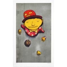 Medium: 8 colour lithograph on on white BFK Rives 270gsm paper. Edition: 99 Size: 65 x 105cm Description: Signed & numbered.First everprintby Brazilian artist sensationOs Gemeos.The print has been made in Paris, Francein an artisan printing setting which dates back to1852 and use