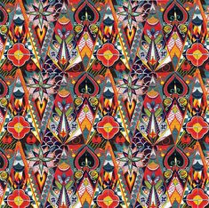 Russian textile..this would be wonderful for kaleidoscope quilt