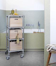 Maak zelf deze badkamer trolley