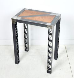 Items similar to Steel Bridge Side Table - Customization Available on Etsy Diy Furniture Chair, Welded Furniture, Iron Furniture, Steel Furniture, Industrial Furniture, Furniture Projects, Custom Furniture, Contemporary Furniture, Wood Steel