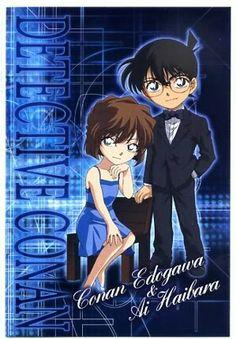 A nice Poster of Ai x Conan, in Evening Dress. Ai x Conan - Evening Dress Manga Cute, Manga Boy, Manga Anime, Heiji Hattori, Kaito Kid, Detective Conan Wallpapers, Detektif Conan, Kudo Shinichi, Magic Kaito