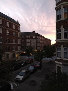 The view from my apartment in Valby, Copenhagen.