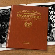 This Personalised Leicester History Book is the perfect gift for any fan of the club. The book kicks off with the earliest newspaper reports, covering their most memorable games and star players, leading right up until last season. See below for why the History of Leicester FC Book is the ultimate piece of memorabilia that will instantly become a treasured keepsake.