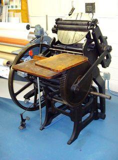 Vintage Chandler and Price Printing Press Antique Letterpress   eBay