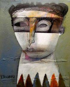 """Saatchi Art Artist Victor Tkachenko; Painting, """"Masky"""" #art"""