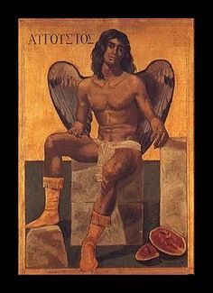 Hellas Inhabitants Of The Shiny Stone — Twelve months August - Tsarouhis Yannis - Greece Painting, Classical Period, Greek Art, Angels And Demons, Male Angels, Gay Art, Figurative Art, Line Art, Contemporary Art