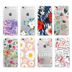 2016 Floral Flowers Rose Daisy Cherry Blossom Fashion secret Soft TPU Phone Case Cover For iPhone 4 5 6 7 S Plus SE 5C