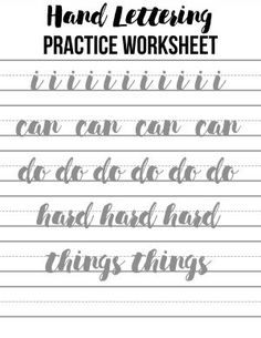 Hand lettering practice sheets 10 ways to hand letter the alphabet this hand lettering practice worksheet is great for beginners and experienced artists learning to hand spiritdancerdesigns Gallery
