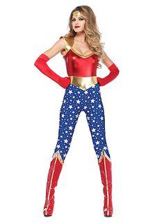 WonderWomen Catsuit von maskworld.com #fasching #maskworld #karneval #superhero #wonderwoman #starts