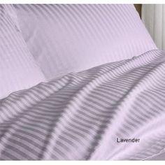 Amazon.com: SOHO Duvet Cover 600tc Sateen Stripe Lavender (Queen): Bedding & Bath - StyleSays