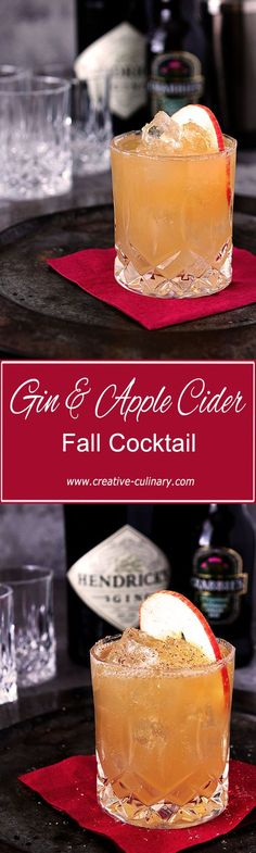 This Fall All Over Cocktail from Hendrick's Gin is fantastic. Combining gin, lemon juice, ginger beer and apple cider in an ice cold beverage garnished with nutmeg. Tis the Fall Season! via @creativculinary