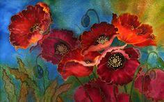 Contemporáneo artista americano Yelena Sidorova Pintura sobre seda