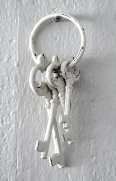 ❖Blanc❖ #White iron antique #keys