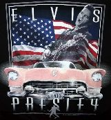 Elvis and his iconic pink Cadillac. From Vintage Basement - www.vintagebasement.com