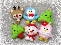 Christmas ornament, felt ornament, christmas tree, cute christmas gift, snowman, deer, reindeer, handmade gift, embroidery Felt is a very soft, pleasing and environmentally friendly material. Felt ornament look great in any room. This ornament will serve you for a long time, you can take