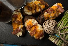 Twice Baked Smoked Potatoes Cooked on the grill Traeger Recipes, Grilling Recipes, Cooking Recipes, Smoker Recipes, Smoked Potatoes, Twice Baked Potatoes, Potato Sides, Potato Side Dishes, Pellet Grill Recipes