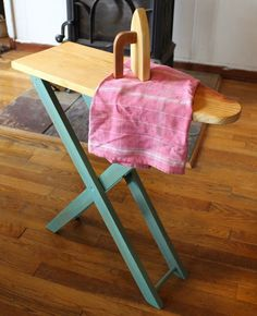 DIY Play Iron and Ironing table. My kids would love this.