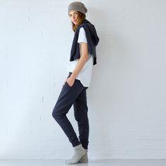 pantalon coton bleu - PANTALONS - LOUNGEWEAR FEMMES - LOUNGEWEAR   Zara  Home France bc02be7f956