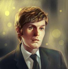 Morse study portrait /  Endeavour (TV series) by Yu-koi.deviantart.com on @DeviantArt