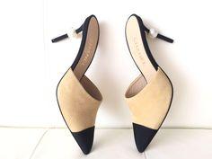 1deaf9c0d901 Chanel Beige Runway Suede Heels Pearl Pumps 41 Mules Slides Size US 11  Regular (M