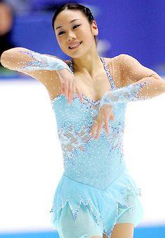 Yukari Nakano, Blue Figure Skating / Ice Skating dress inspiration for Sk8 Gr8 Designs