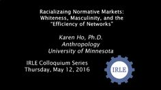 This presentation, inspired by critical race theory, cultural histories of risk and the construction of the risk-bearing individual, as well as ethnographic accounts of financial markets, examines both the underbelly of what makes financial markets possible as well as the whiteness and classed masculinity of financial markets themselves ... the instruments and assumptions of racial fraternity and exclusion.