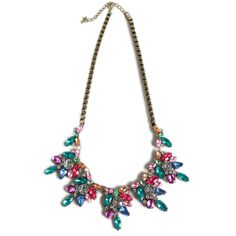 Luxe Jewel Crystal Cluster Necklace @t+j Designs