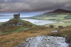 Castle Varrich in Tongue, Scotland.  mackay clan castle!!