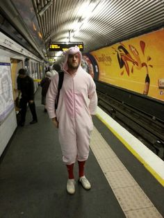 Ben takes wearing onesies seriously - only for #wearitpink