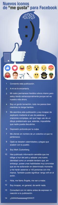 """Guía de los nuevos """"Me gusta"""" de Facebook"""