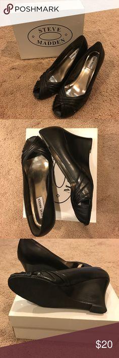 🖤Steve Madden Black Peep Toe Heels🖤 🖤Steve Madden Black Peep Toe Heels🖤   Size 10   Never worn   Still in box Steve Madden Shoes Heels
