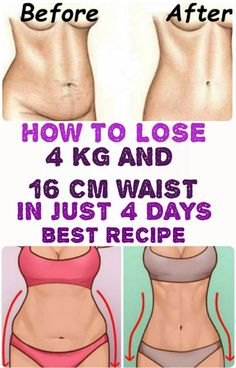 How to Lose 4 kg and 16 cm Waist in Just 4 Days – Best Recipe