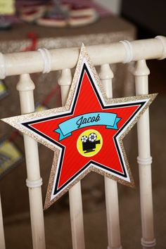 Movie themed party printable Hollywood Name star....